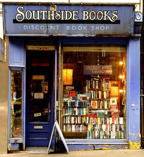 Storefront- Southside Books, Old Town, Edinburgh, Scotland, photo by Glenn McNaughton via Flickr