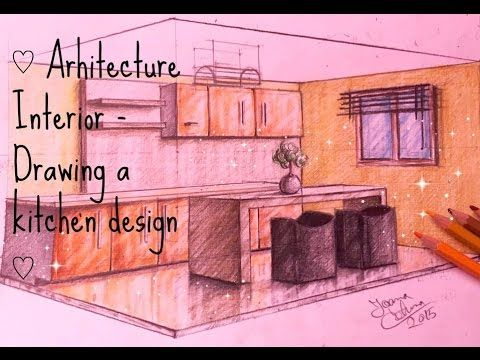 ♡ Arhitecture Interior - Drawing a kitchen design ♡