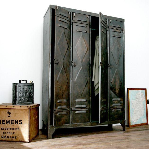 556 best reclaimed vintage retro interior design ideas - Armoire metallique vintage ...