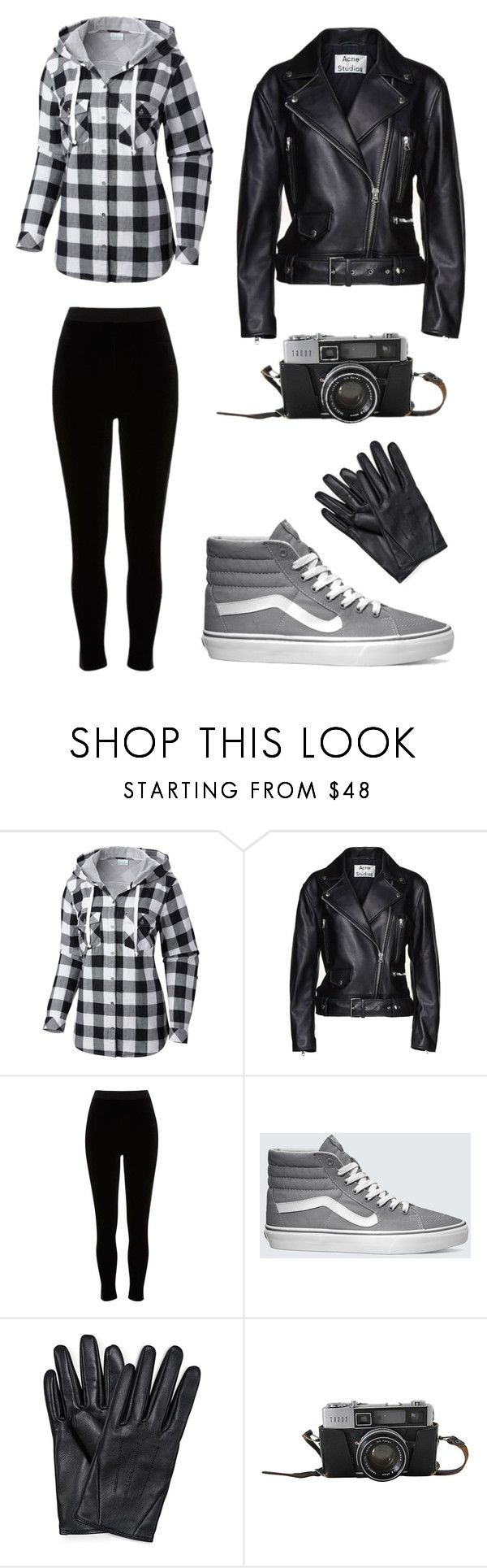 """""""77"""" by selinan731 on Polyvore featuring Columbia, Acne Studios, River Island and Vans"""