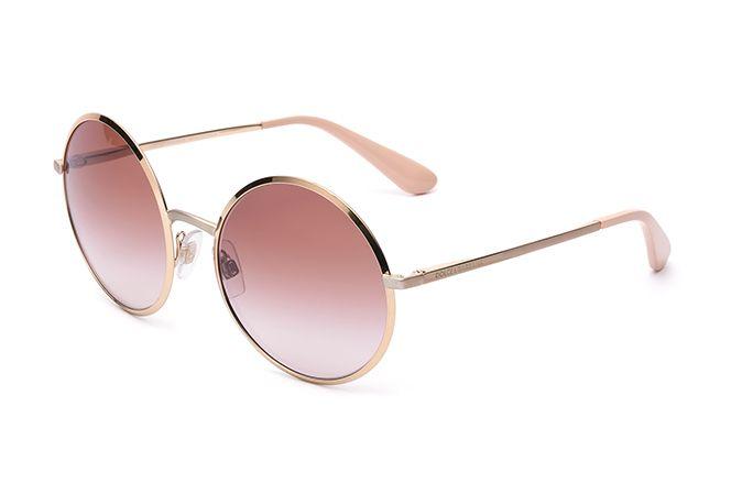 """Occhiali da sole donna tondi metallo oro rosa DG2155"""""""