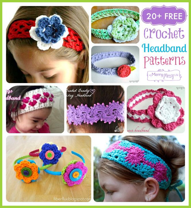 Free #Crochet Headband Pattern Roundup from MyMerryMessyLife.com