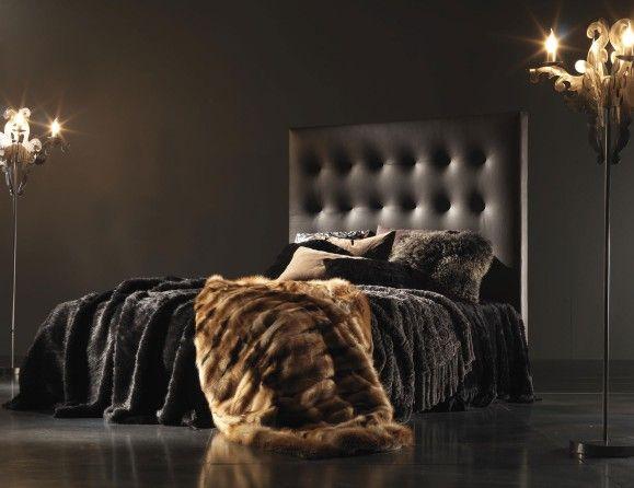 Nella Vetrina Berry BER03 Italian Designer Brown Leather Bed