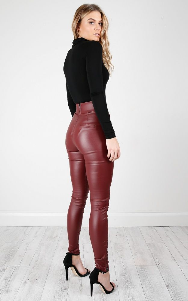 bcf483829d10ca Trouble Maker Pants In Wine | #high.waisted.leather.pants | Leather ...