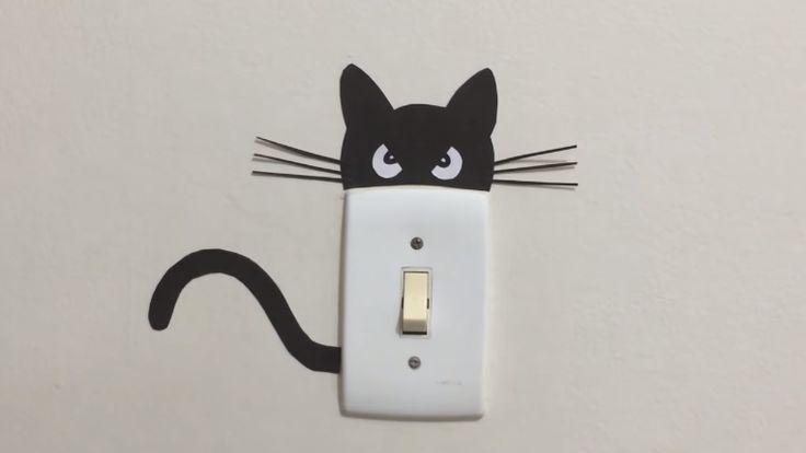 Elle trace la tête et la queue d'un chat sur un rectangle! Attendez de voir pourquoi! C'est MIGNON! - Bricolages - Des bricolages géniaux à réaliser avec vos enfants - Trucs et Bricolages - Fallait y penser !