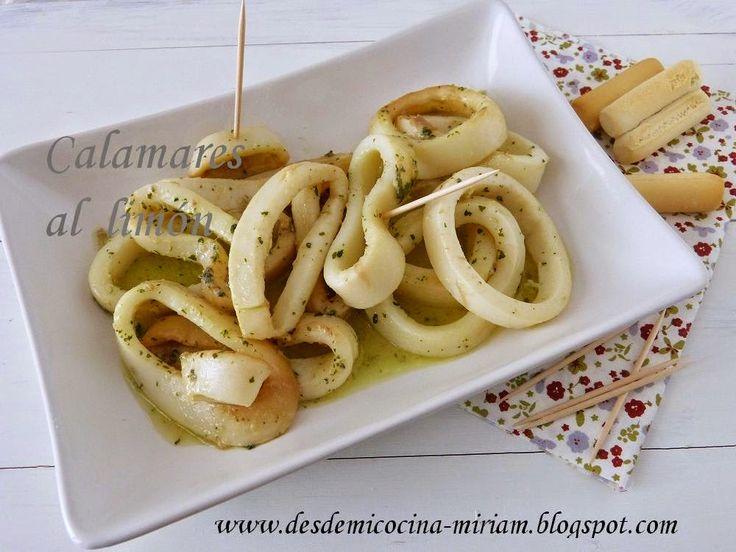 Calamares al limón