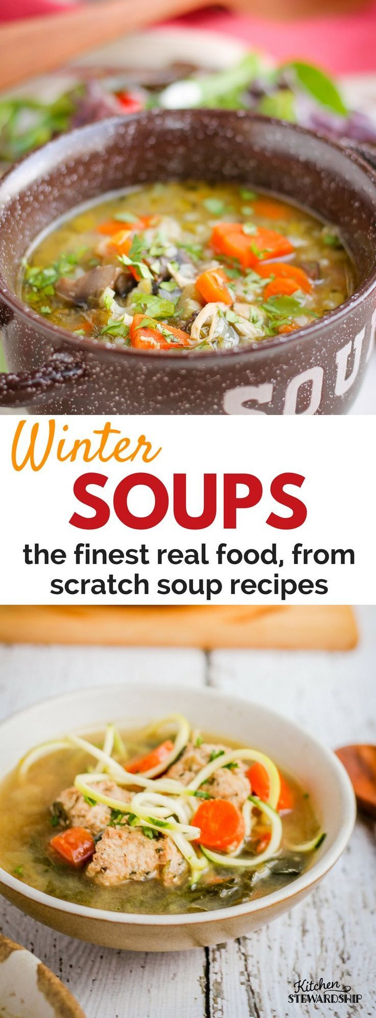 Over 50 homemade soup recipes. Healthy, and included gluten free, dairy free, paleo and GAPs friendly recipes. Use these recipes all winter long!