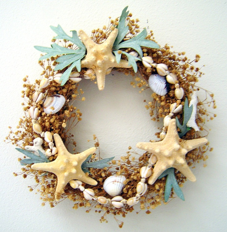 17 best images about 2 seashell wreaths on pinterest for Shells decorations home