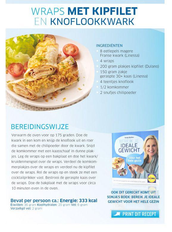 Wraps met kipfilet en knoflookkwark  Lidl - Sonja Bakker