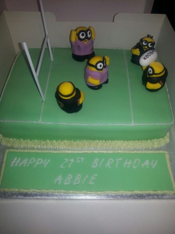 Minion Rugby Cake