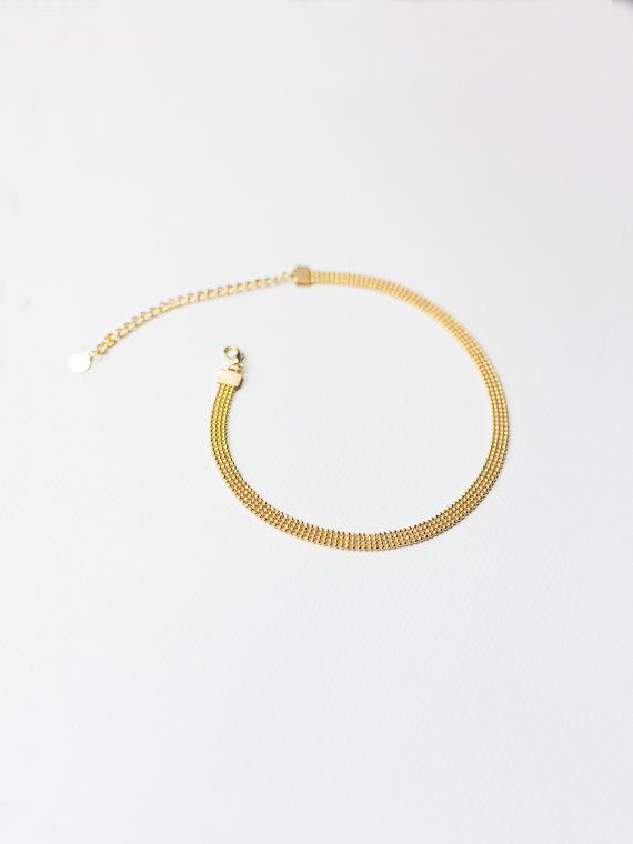 Thick Gold Chain Necklace Dainty Chain Choker by STUDIOWALDOUX