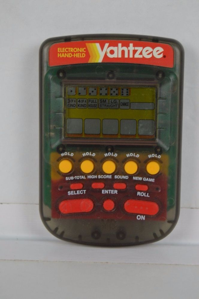 1995 Hasbro Electronic Hand Held Yahtzee Game Clear Gray Tested FREE SHIPPING #Hasbro#Yahtzee#Electronicgame
