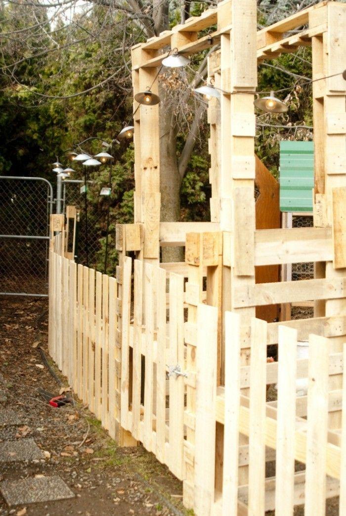 Gartenzaun Selber Bauen Aus Paletten Ausgefallene Diy Ideen Fur
