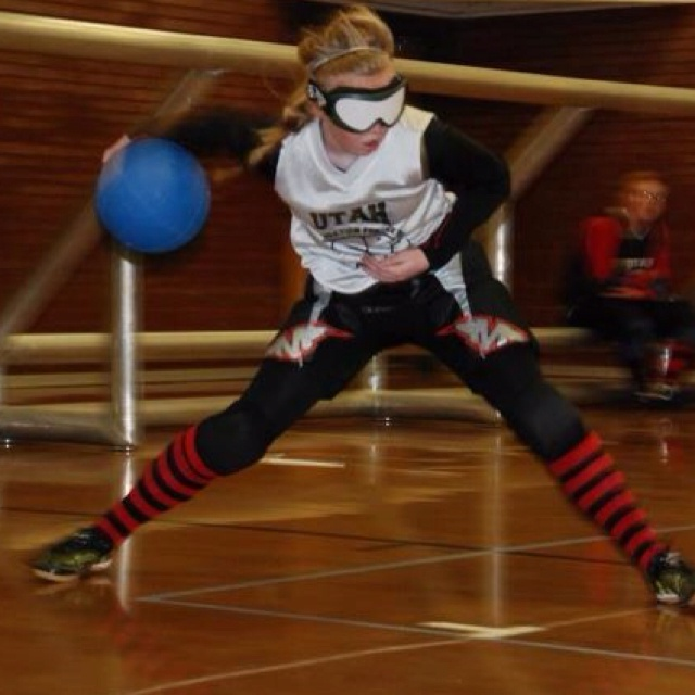 Goalball For The Blind U0026 Visually Impaired. Similar To Dodge Ball But Done  Lower To