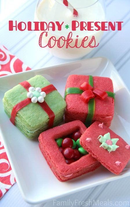 3D Present Cookies Recipe ~ These 3D present cookies  are not only adorable, but are a blast for kiddos to make