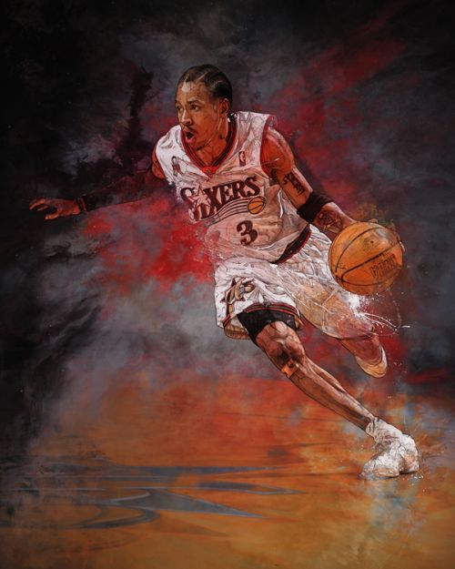 Allen Iverson 'The Answer' Painting