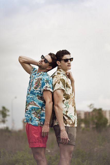 Hawaiian Shirts...we'll for all you out there who have all those Hawaiian shirts in the dark spaces of your closet I have found a great way to bring those shirts out into the light. If you must get the shirt tailored to have a slim fit look and match the shirt with a nice pair of shorts like these or trousers to make an outstanding look.