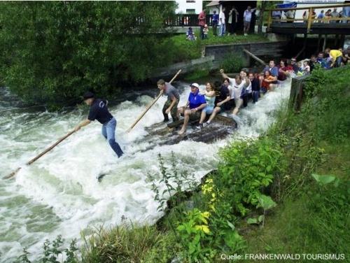 Descente en radeau sur la Rodach en Franconnie