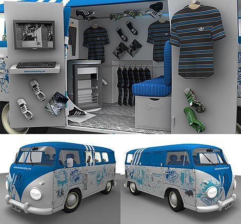 pop up store bus concept