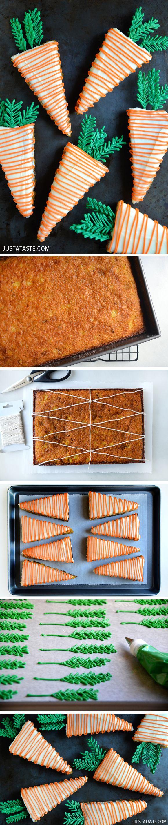 Karottenkuchen in Möhrenform