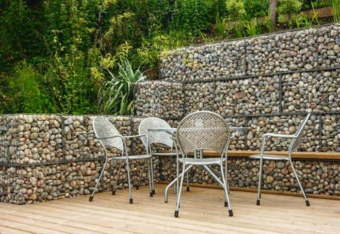 gaviones decorativos mil anuncios com para piedras 134526673 3 We are big fans of Gabion Baskets! This wall is functional and decorative  at the same time #landscapedesign #hardscape #gabionwall | Landscaping  Ideas ...