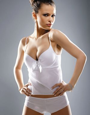 Image of Gracya Princess Babydoll Set in White with Brief