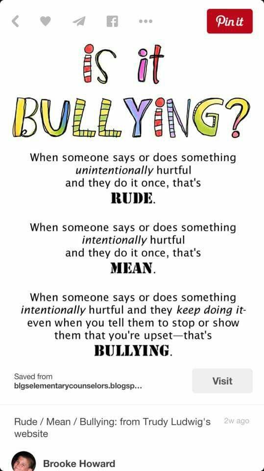 Rude vs. Mean vs. Bullying