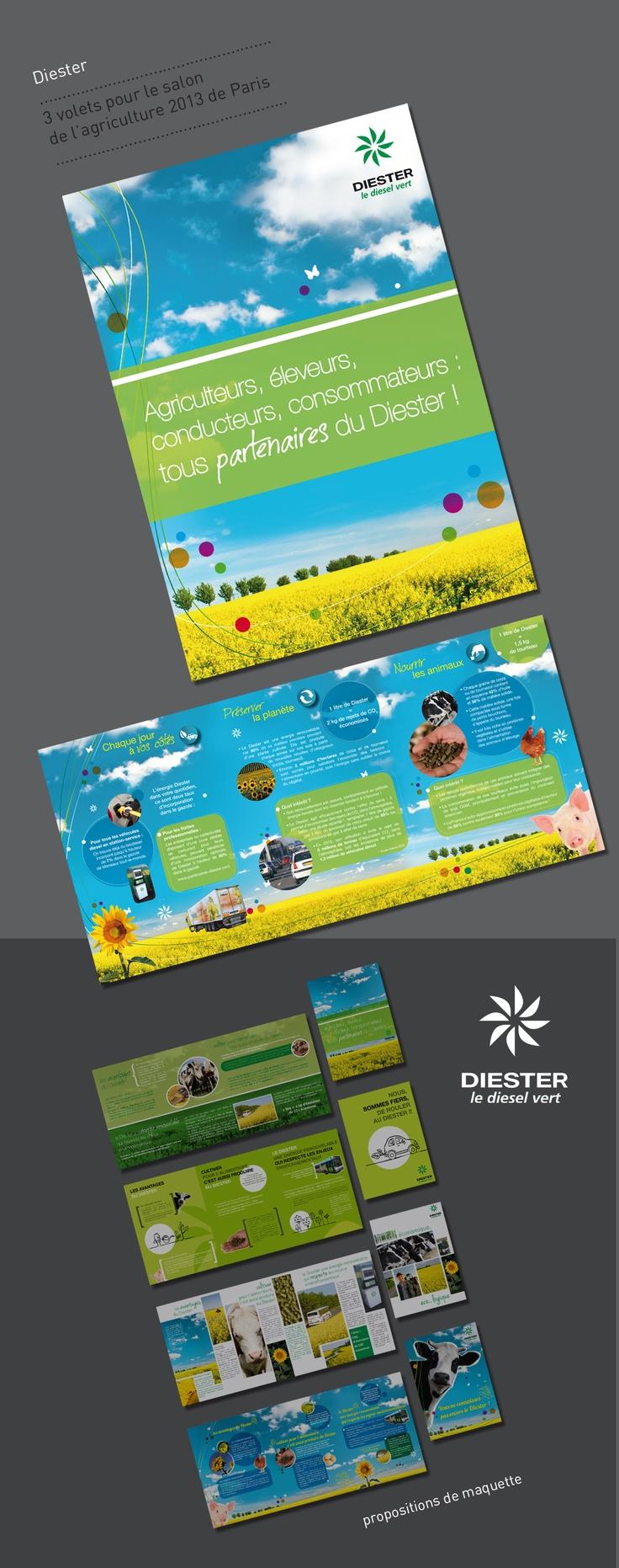 3 volets pour Diester, Salon de l'Agriculture de Paris 2013  www.natalee-graphicdesigner.com