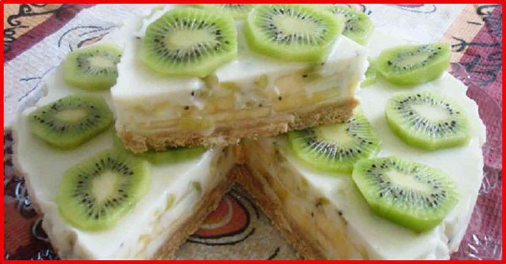 Tort cu iaurt și fructe, care nu necesită coacere. Un desert dietetic pentru cei care vor să-și mențină silueta. - Bucatarul