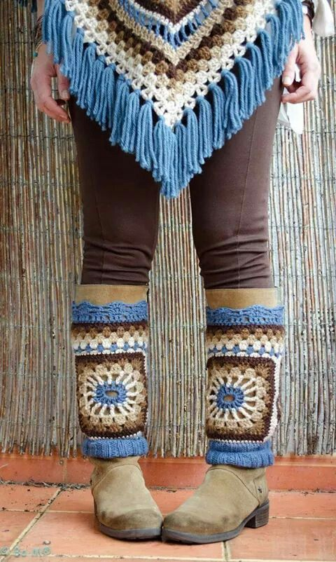 boot wraps??? don't know if i could pull it off, but its cool!