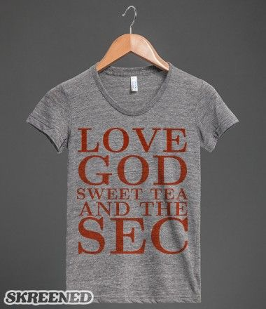 Love God Sweet Tea and the SEC - college football #vols Tennessee