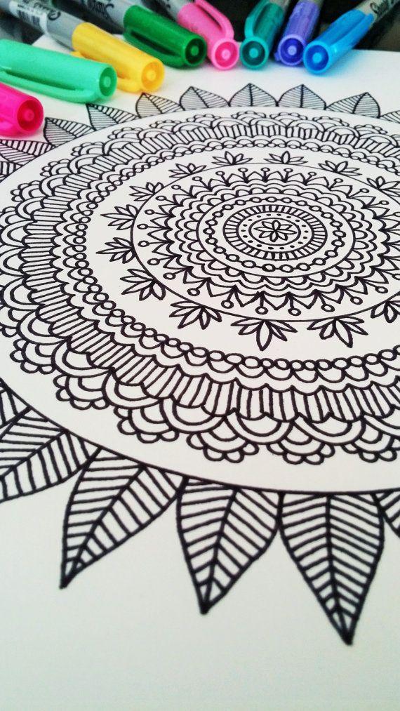 Mandala Coloring Book Mehndi Henna Printable By ViewFromTheEdge