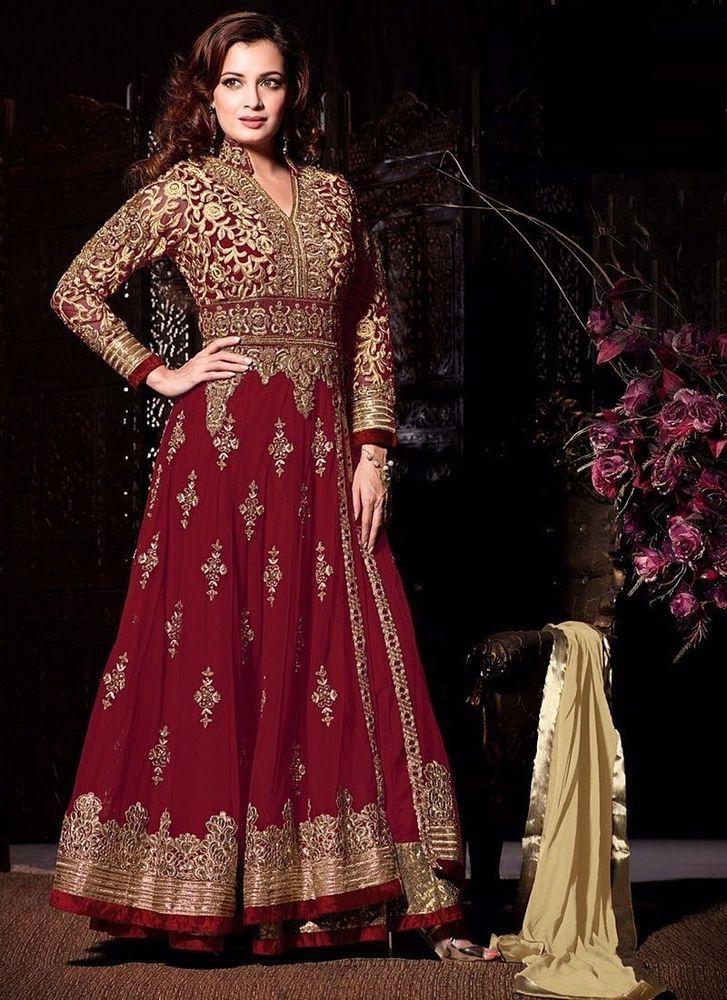 Indian Bollywood Ethnic Designer Anarkali Salwar Kameez Suit &Traditional DK 203 #Nikah_786