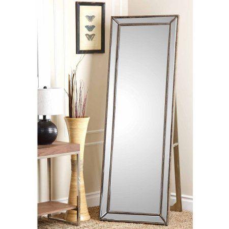 Floor Mirror Abbyson Living, Full Length Mirror Black Trim