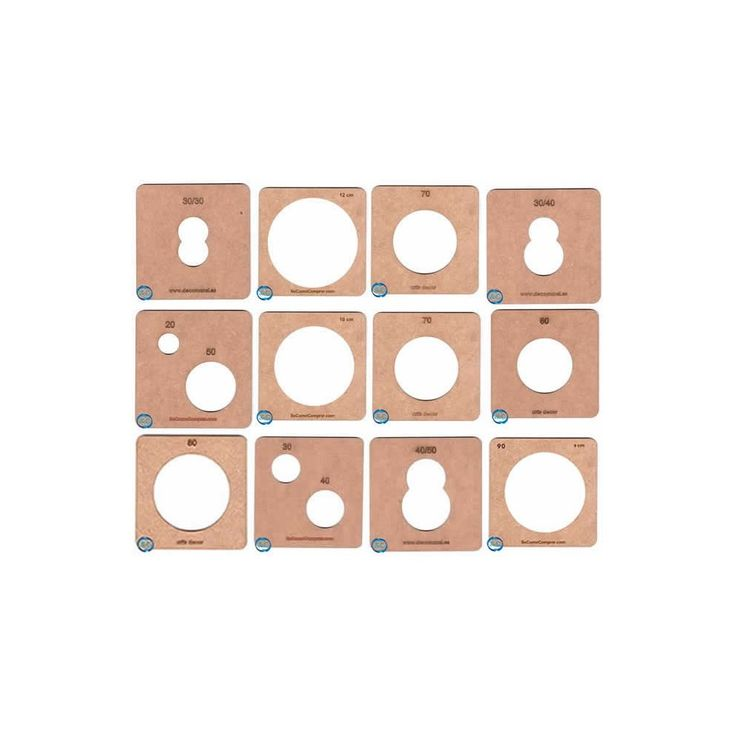 Lote de Moldes fofuchas termoformado 12 moldes