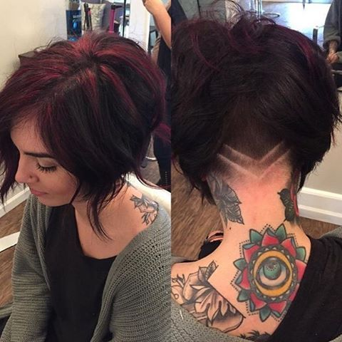 Peachy 1000 Ideas About Undercut Bob On Pinterest Shaved Nape Short Hairstyles Gunalazisus