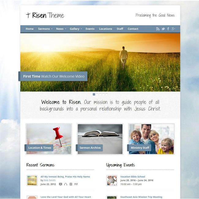 Risen – Responsive Church WordPress Theme