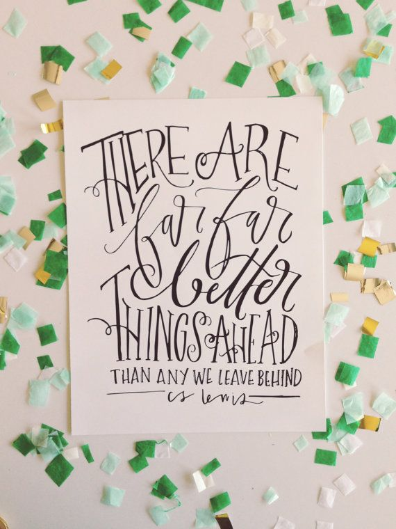 CS Lewis quote 11x14 hand lettered print