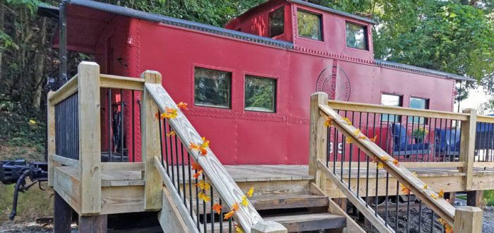 Spend The Night In This North Carolina Airbnb Caboose Made Famous In A Movie Starring Harrison Ford Bryson City North Carolina Travel North Carolina