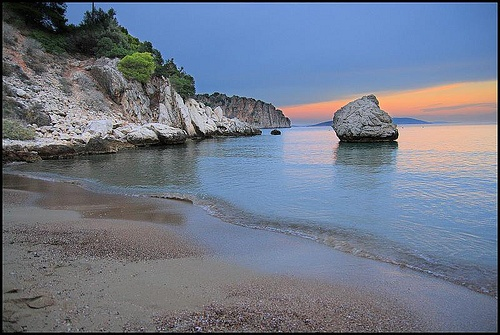 5. Beach Scene: Tolo Beach, Greece at Sunset. I spent 3 months close to here as a kid. It's incredibly beautiful.