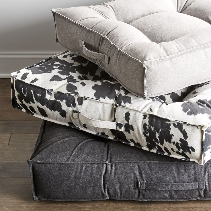Shop Piazza Shadow Extra-Large Dog Bed. Finally a dog bed that you and your pet both will love. Inspired by the piazza, an open public space that's the center of many Italian towns, this tufted square mimics the sleek look of flat floor cushions.