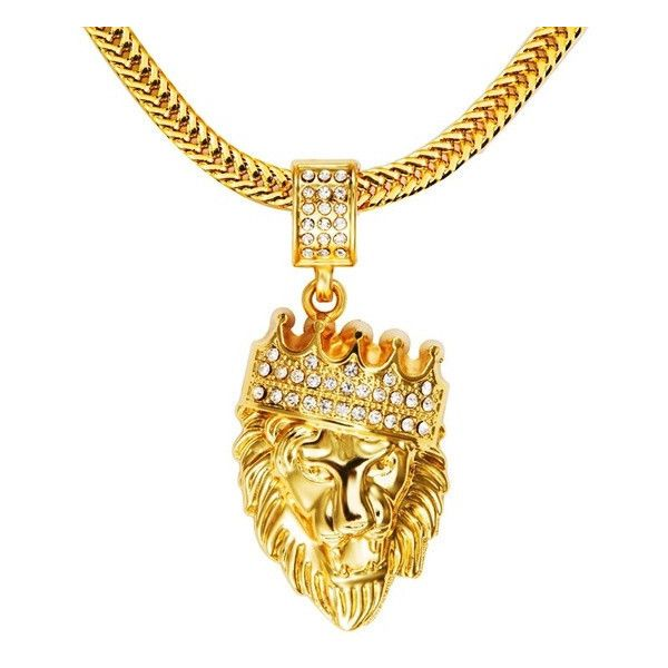 Men's King Crown Hip Hop Iced Out Pendant Necklace ($24) ❤ liked on Polyvore featuring men's fashion, men's jewelry, men's necklaces, mens chain necklace, mens watches jewelry, mens pendant necklaces, mens necklace pendants and mens 18k gold chains