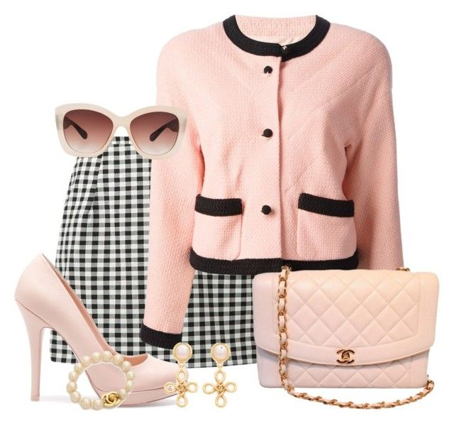 """""""scream queens- Chanel Oberlin"""" by darcy-watson ❤ liked on Polyvore featuring Chanel, Pull&Bear, Eloquii and ScreamQueens"""