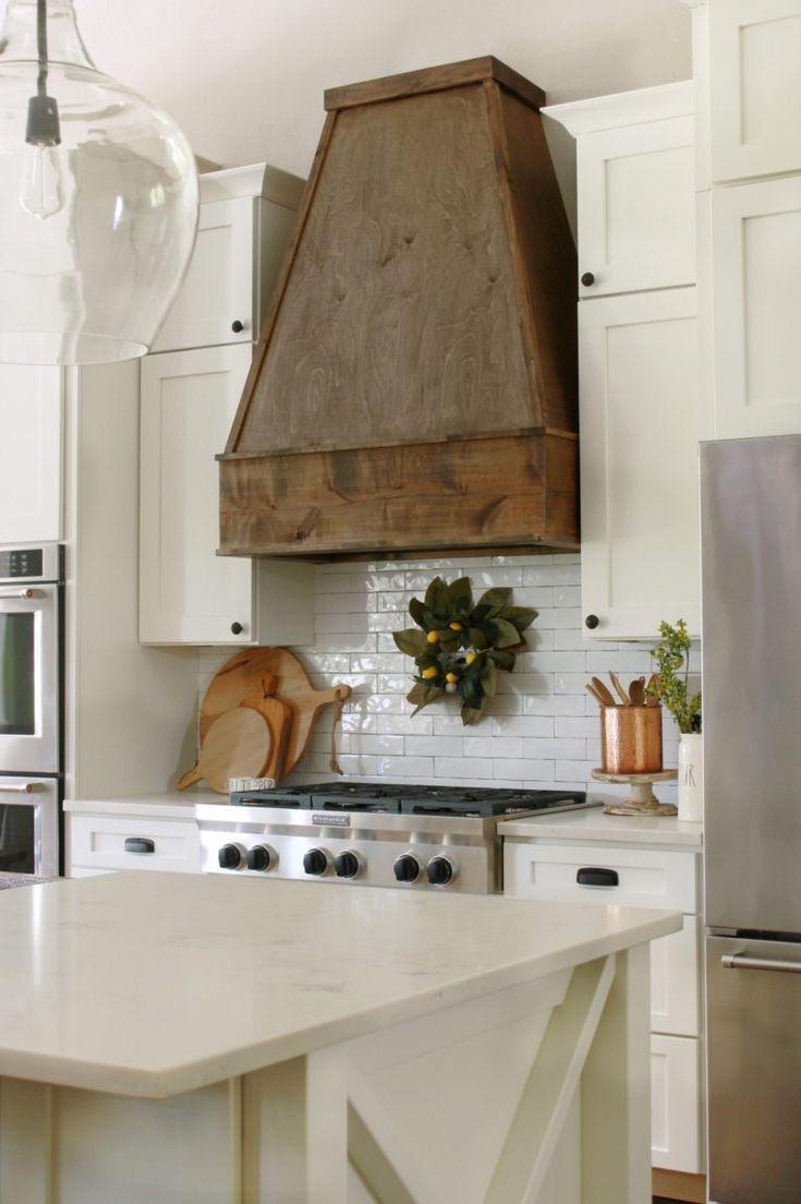 diy wood hood vent kitchen vent hood wood hood vent rustic kitchen on outdoor kitchen vent hood ideas id=34382