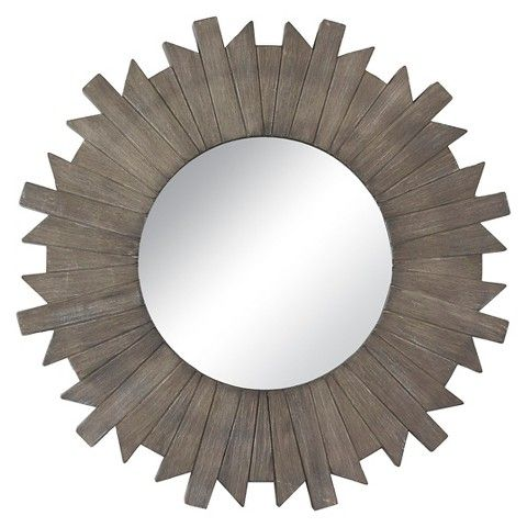 "Threshold™ Starburst Reclaimed Mirror - Grey 28"":"