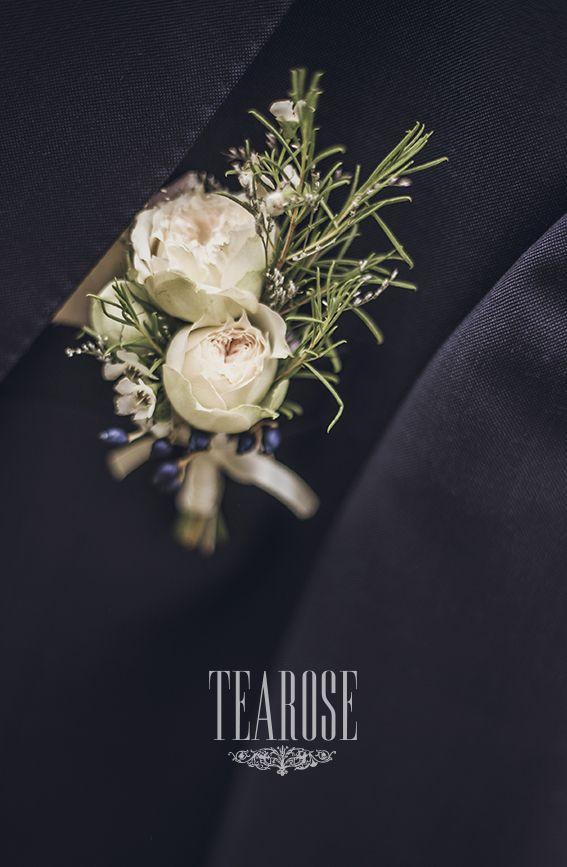 Őszi antik esküvő vőlegény kitűzője