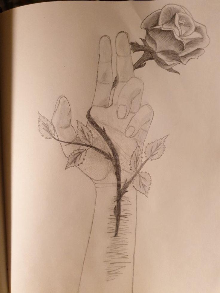 Zeichnen rose mit dornen Eine Rose