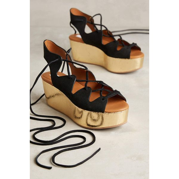 See by Chloe Liana Platform Gladiators Black 39 Euro Sandals