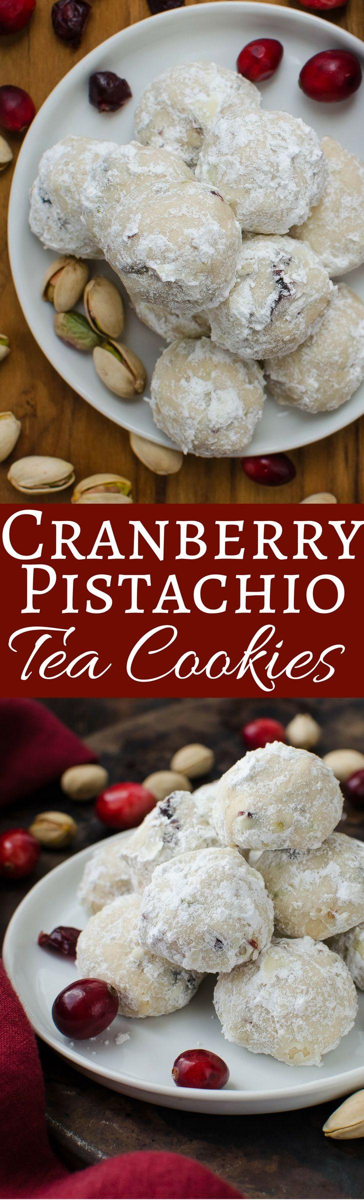 cranberry pistachio tea cookies