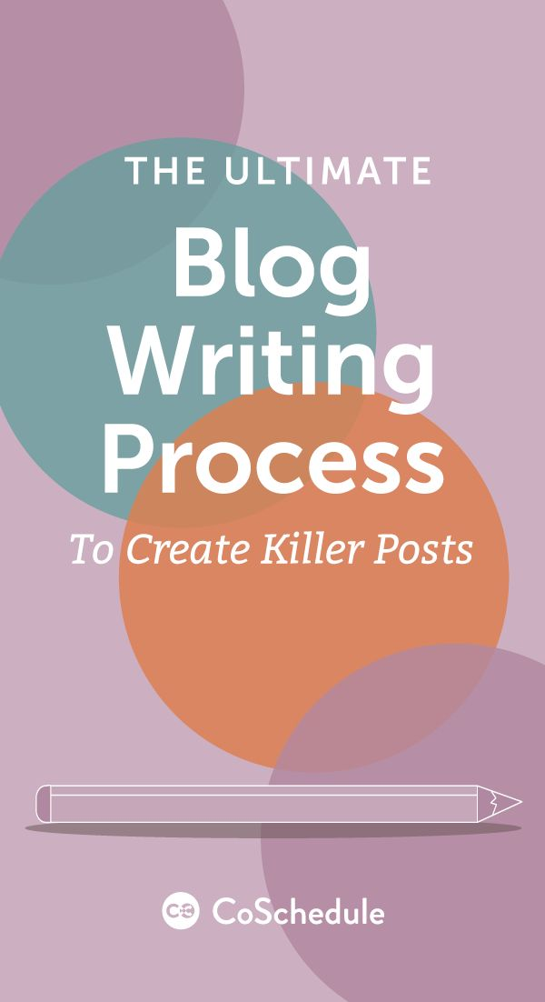 In this post we'll walk through the entire process from end to end, from generating an idea to editing the final piece http://coschedule.com/blog/blog-writing-process/?utm_campaign=coschedule&utm_source=pinterest&utm_medium=CoSchedule&utm_content=Blog%20Writing%20Process%3A%20How%20To%20Write%20More%20Authoritative%20Posts